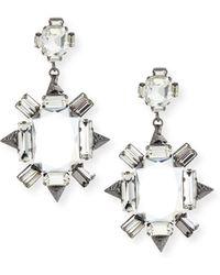 R J Graziano Crystal Chandelier Earrings Lyst