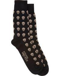 Alexander McQueen Skull Socks - Lyst