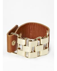 French Connection - Multi Link And Leather Bracelet - Lyst