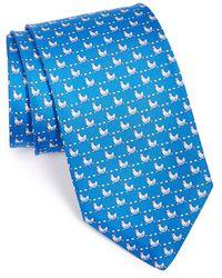 Ferragamo Chicken & Egg Print Silk Tie - Lyst