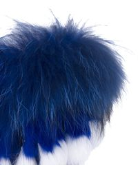 Akira Black Label - Jackie Genuine Suede Fur Trim Boots - Cobalt Blue - Lyst