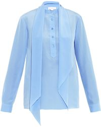Stella McCartney Blaine Silk Shirt - Lyst