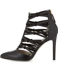Jason Wu Strappy Leather Ankle Bootie - Lyst