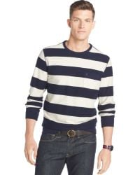 Izod Striped French Terry Pullover - Lyst