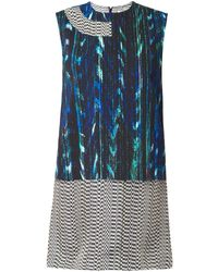 Kenzo Mixedprint Layered Dress - Lyst