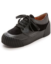Marc By Marc Jacobs Velvet Uniform Sneakers - Black - Lyst