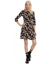 Suno Center Pleat Flare Dress - Lyst
