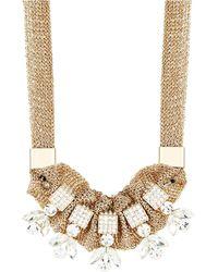 ABS By Allen Schwartz Rhinestone and Mesh Collar Necklace - Lyst