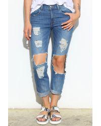 Glassworks Big Rip Boyfriend Jeans - Lyst