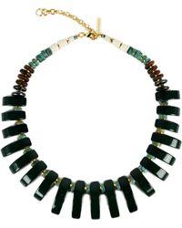 Lizzie Fortunato | Dark Green Tile Necklace | Lyst