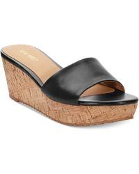 Nine West Confetty Platform Slide Sandals - Lyst