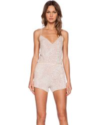 MLV - Brooklyn Sequin Romper - Lyst