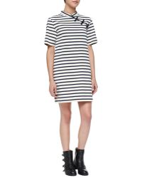 Marc By Marc Jacobs Jacquelyn Striped Mandarin Dress - Lyst