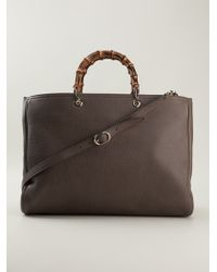 Gucci Brown Oversized Tote - Lyst