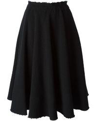 Comme Des Garçons Knitted Skirt - Lyst