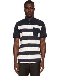 Fred Perry Pique Stripe Shirt - Lyst