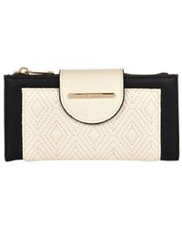 River Island Cream Quilted Tab Top Purse - Lyst