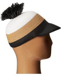 BCBGMAXAZRIA Striped Pom Pom Hat - Lyst