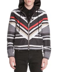 Givenchy Striped Hoodie Wind Jacket - Lyst