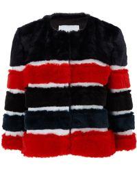 Ainea Multi Faux Fur Panelled Jacket - Lyst