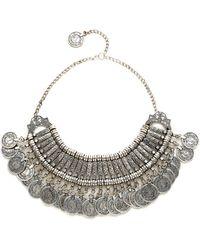 Raga - Statement Coin Necklace - Silver - Lyst
