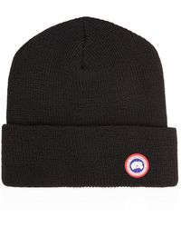 Canada Goose Wool Beanie Hat - Lyst