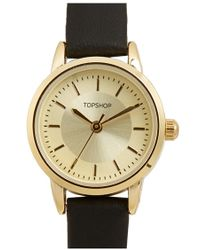 TOPSHOP | Faux Leather Strap Watch | Lyst