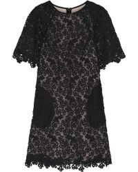 Erdem Aliya Embroidered Lace Mini Dress - Lyst