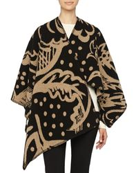 Burberry Prorsum Thistle Motif Blanket Poncho - Lyst