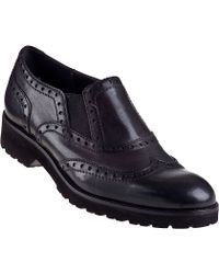 Sesto Meucci For Jildor Omega Oxford Black Leather - Lyst