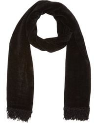 Barneys New York Black Chenille Scarf - Lyst