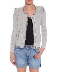 IRO Agnette Tweed Jacket gray - Lyst