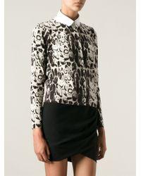 Blumarine Leopard Print Cardigan - Lyst