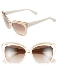 Dior Women'S 56Mm Cat Eye Sunglasses - Ivory/ Orange - Lyst