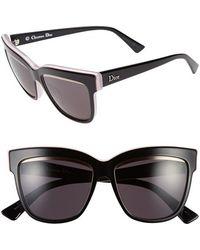 Dior Women'S 55Mm Cat Eye Sunglasses - Black/ Pink/ White - Lyst