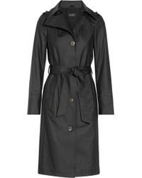 Mackage Lane Coated Stretch-cotton Trench Coat - Lyst