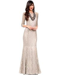 Kay Unger Lace Mermaid Hem Gown - Lyst