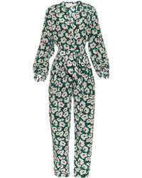 Stella McCartney | Monia Poppy-print Silk Crepe Jumpsuit | Lyst