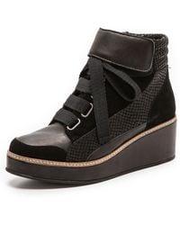 Surface To Air Siastep Wedge Sneakers  Black - Lyst