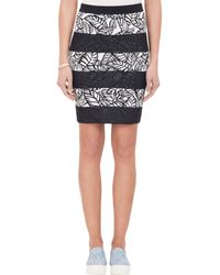 Opening Ceremony Frond Intarsia Stretch Pencil Skirt black - Lyst