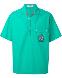 Yves Saint Laurent Vintage Short Sleeve Chest Pocket Shirt green - Lyst