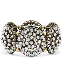 BaubleBar Crystal Dandelion Stretch Bracelet - Lyst