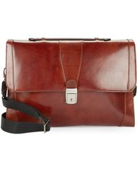 Bosca - Leather Flap-top Brief Case0162-82927 - Lyst