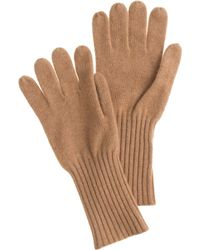 J.Crew Brown Cashmere Gloves - Lyst
