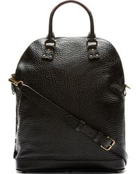 Burberry Prorsum - Black Grained Leather Tote Bag - Lyst bccb0eae9b206