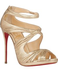 Christian Louboutin Ruched Kasia Sandals - Lyst