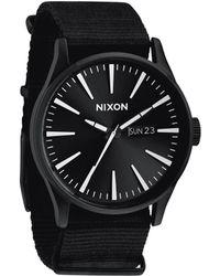 Nixon Sentry Nylon All Black Watch black - Lyst