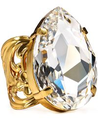 Sorrelli - Crystal Clear Cocktail Ring - Lyst