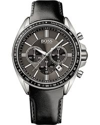Hugo Boss Chronograph Leather Watch - Lyst
