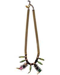 Iosselliani | Rhinestone Pendant Necklace | Lyst